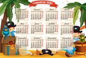 Les pirates: calendrier 2020à imprimer
