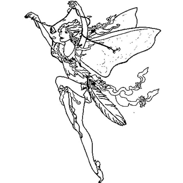 Dessin Fée princesse a colorier