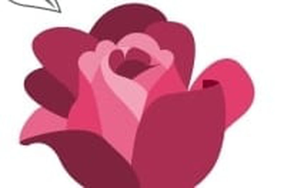 apprendre a dessiner une rose vous pouvez prsent dessiner le prochain niveau de ptales en. Black Bedroom Furniture Sets. Home Design Ideas