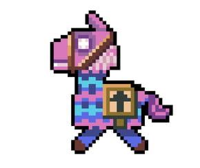 Pixel Art Fortnite Loot Llama