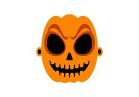 Masque de citrouille effrayante pour Halloween