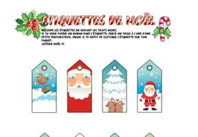 Étiquettes de Noël Tradition