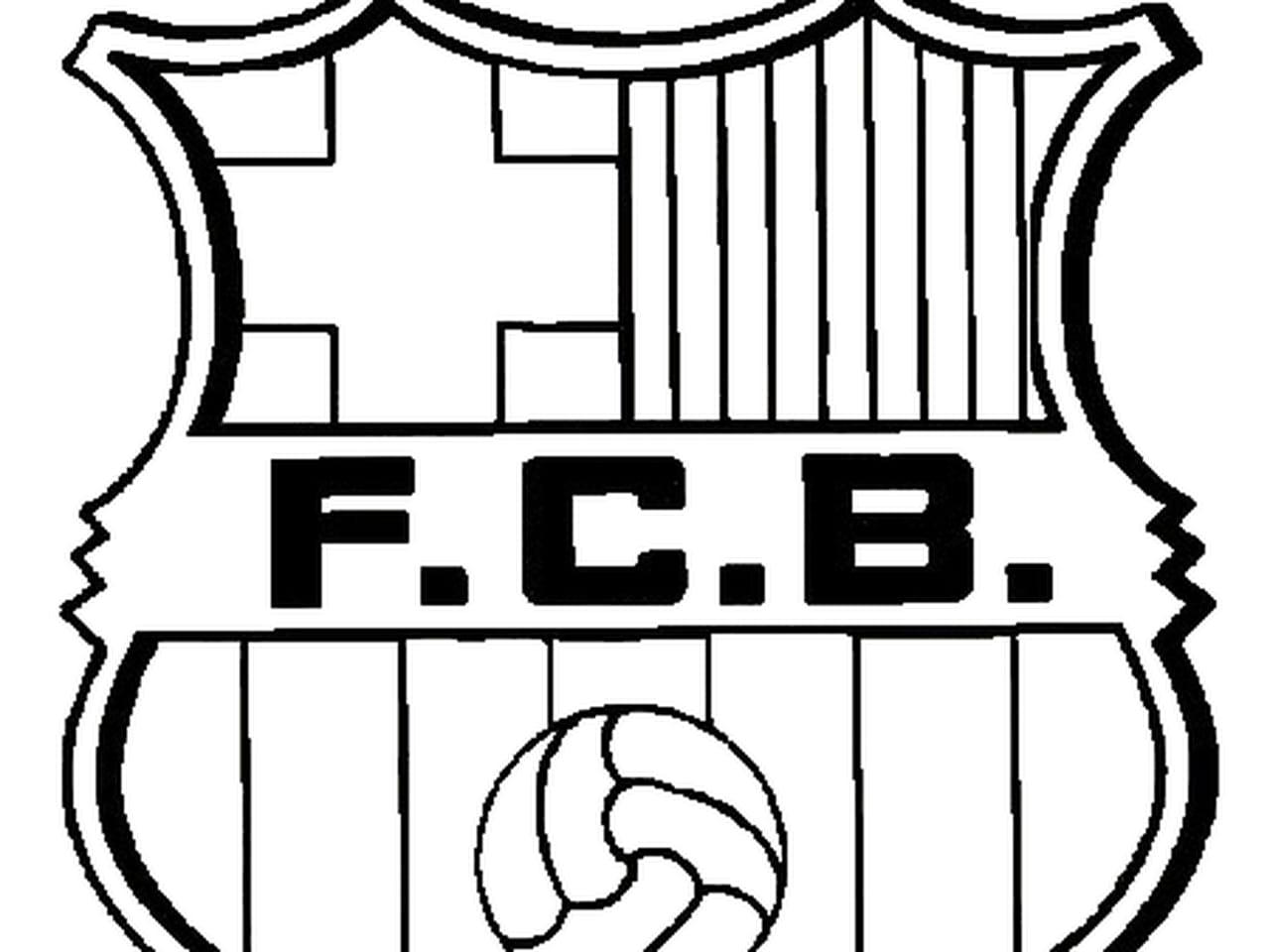 Coloriage Maillot De Foot Barcelone.Coloriage Fc Barcelone En Ligne Gratuit A Imprimer