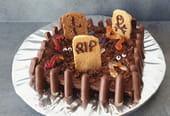 Gâteau cimetière pour Halloween