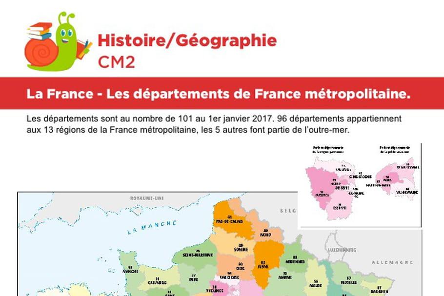 La France, les départements de France métropolitaine