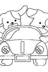 Coloriage de voiture en Ligne Gratuit à imprimer
