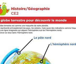Le globe terrestre pour découvrir le monde