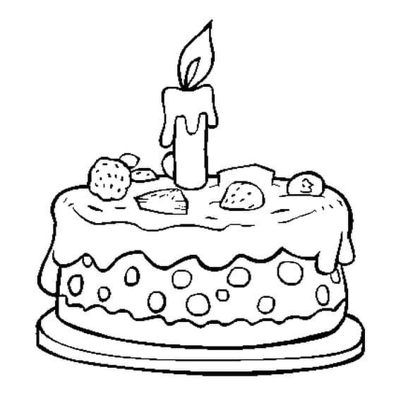 Comment dessiner un gateau d anniversaire - Comment dessiner une bougie ...