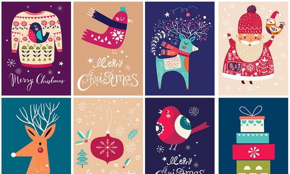 Coloriage symboles de Noël