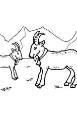 Coloriage Chèvres en Ligne Gratuit à imprimer
