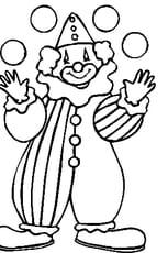 Coloriage Clown Cp.Coloriage Clown En Ligne Gratuit A Imprimer
