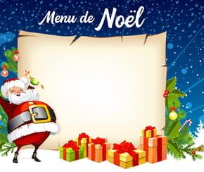 Menus de Noël à imprimer