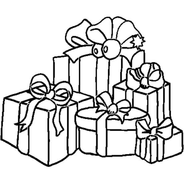 No l et cadeaux coloriage no l et cadeaux en ligne - Dessin de cadeau ...
