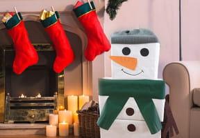 Emballage cadeau original: en forme de bonhomme de neige