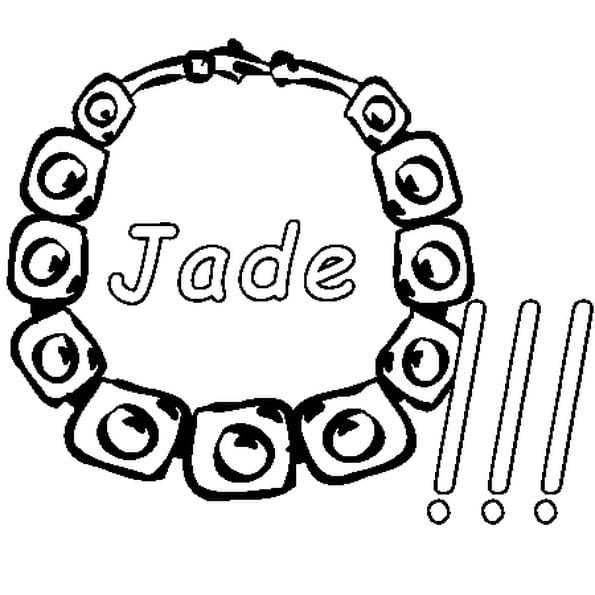 Dessin Jade a colorier