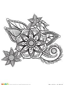 Mandala poinsettia de Noël