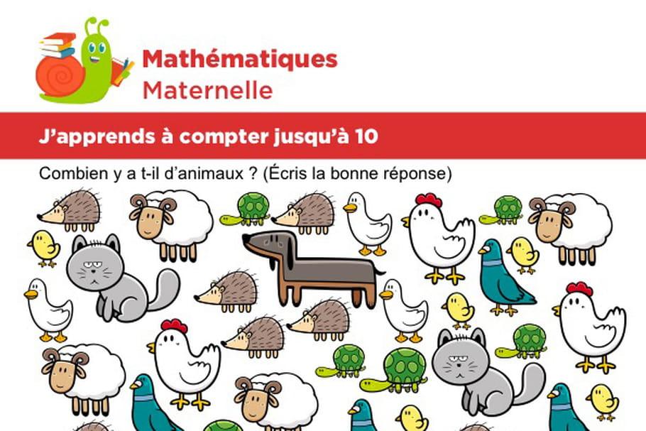 Mathématiques fiche 5, j'apprends à compter jusqu'à 10