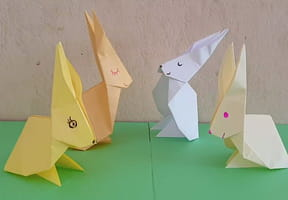 Un lapin en origami, pliage papier [VIDEO]