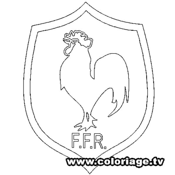 Coloriage Rugby équipe France en Ligne Gratuit à imprimer