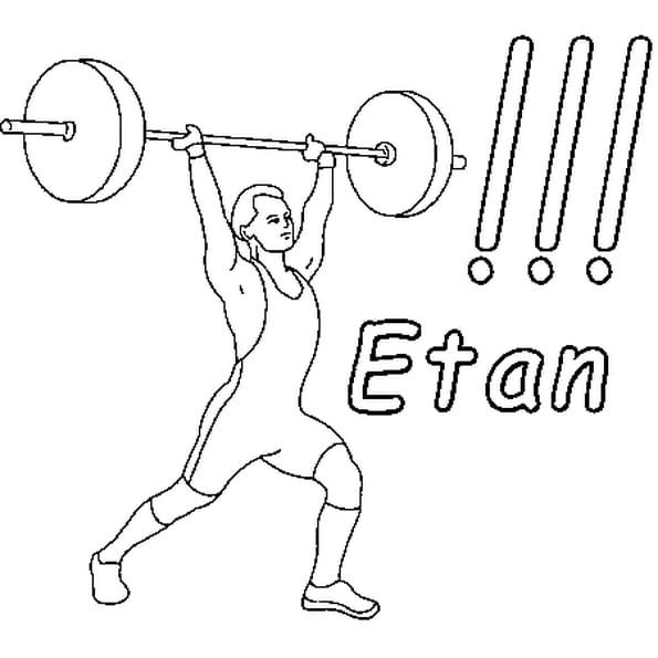 Dessin Etan a colorier