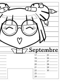 Calendrier Septembre