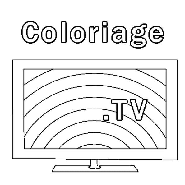 Coloriage Tv en Ligne Gratuit à imprimer