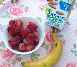 Les ingrédients du smoothie au lait