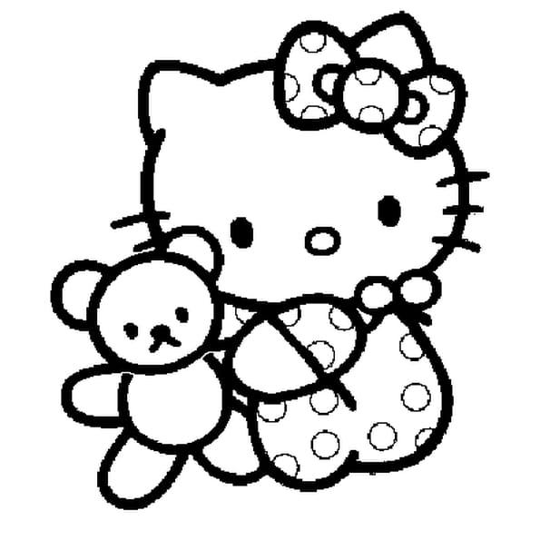 Dessin kitty bébé a colorier