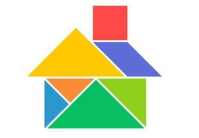 Le tangram niveau facile, une maison