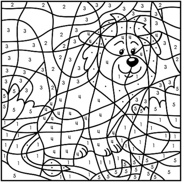 dessin magique lion a colorier