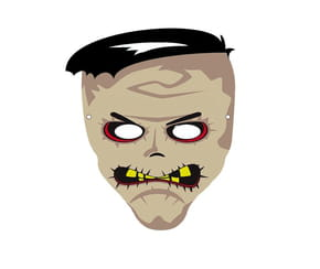 Masque de zombie pour Halloween