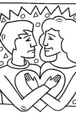 Coloriage Mariage en Ligne Gratuit à imprimer