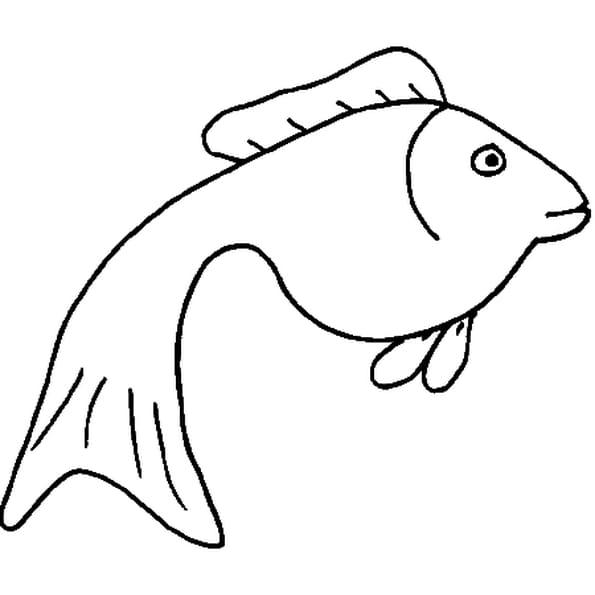 Coloriage poisson en Ligne Gratuit à imprimer