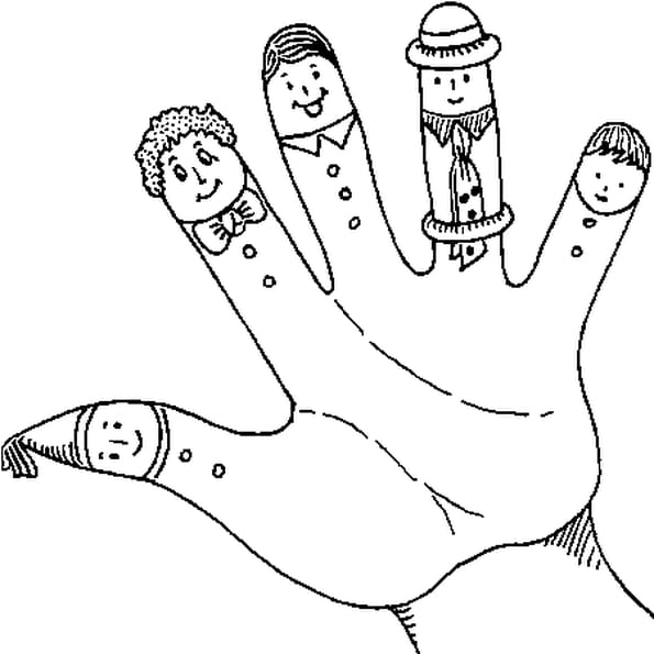 Doigts coloriage doigts en ligne gratuit a imprimer sur - Main en dessin ...