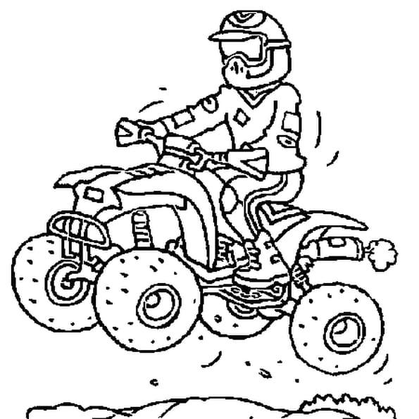 Coloriage quad cross en ligne gratuit imprimer - Moto a colorier en ligne ...