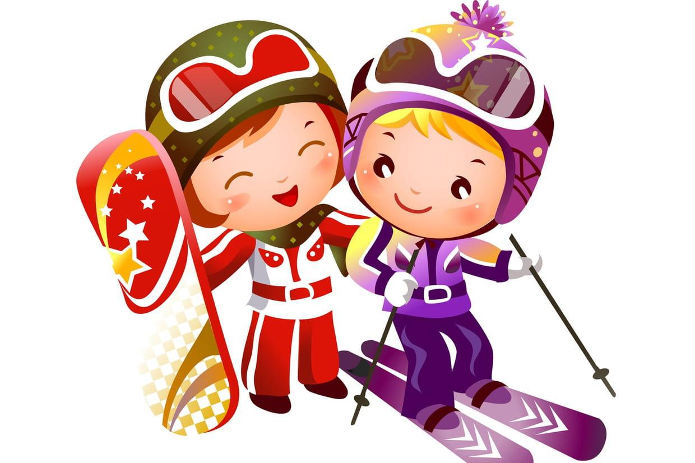 Coloriage Ski et SnowBoard