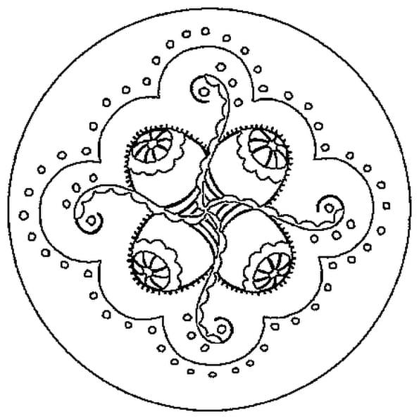 dessin mandala pques a colorier