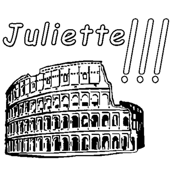 Dessin Juliette a colorier