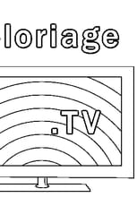 Coloriage Tv