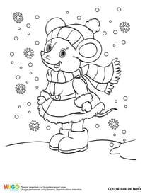 Coloriage hiver sur - Dessin de petite souris ...