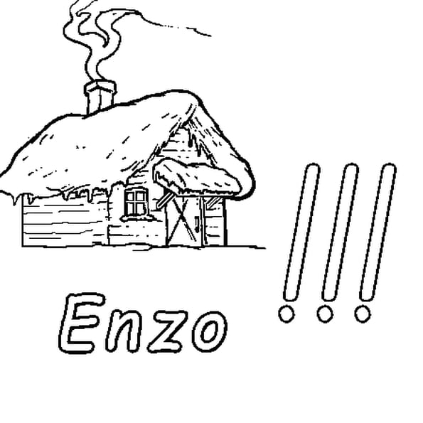 Dessin Enzo a colorier