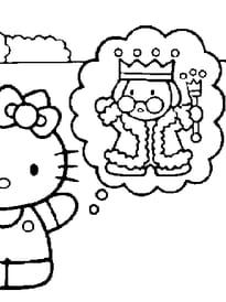 Coloriage la vie de princesse sur - Coloriage de hello kitty sur hugo l escargot ...