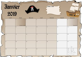 Calendrier 2019 Pirate