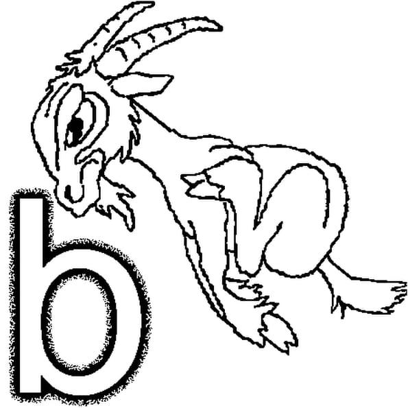 Coloriage lettre b en Ligne Gratuit à imprimer