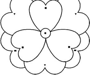 Coloriage Magique fleur