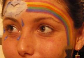 Maquillage arc-en-ciel