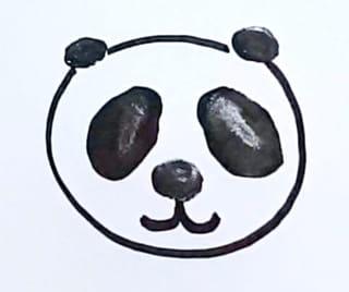 Comment dessiner la tête du bébé panda?