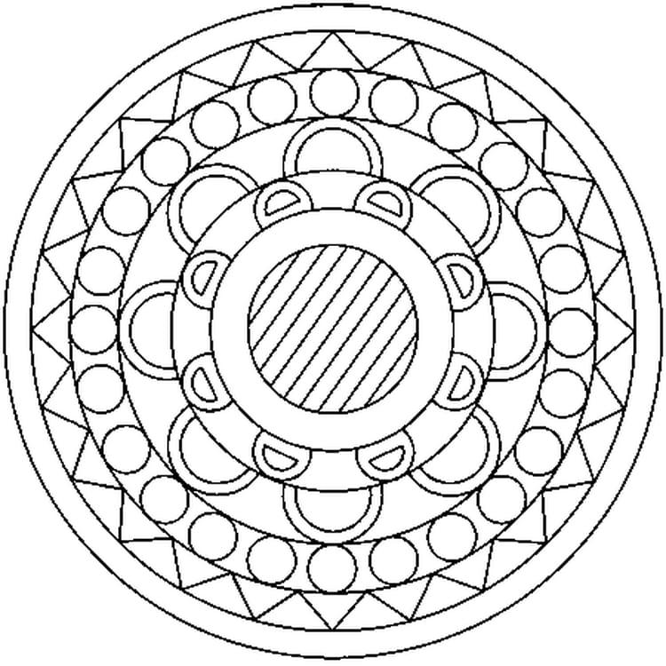 Favori Coloriage Mandala à imprimer sur Hugolescargot.com GW79