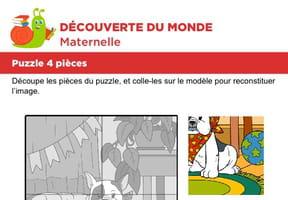 Puzzle 4pièces, un bouledogue Anglais