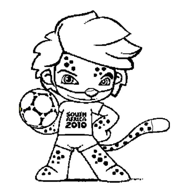 Dessin de la Coupe du Monde 2010 a colorier